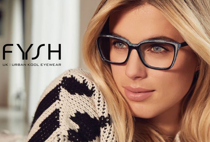 beautiful girl wearing fysh eye glasses