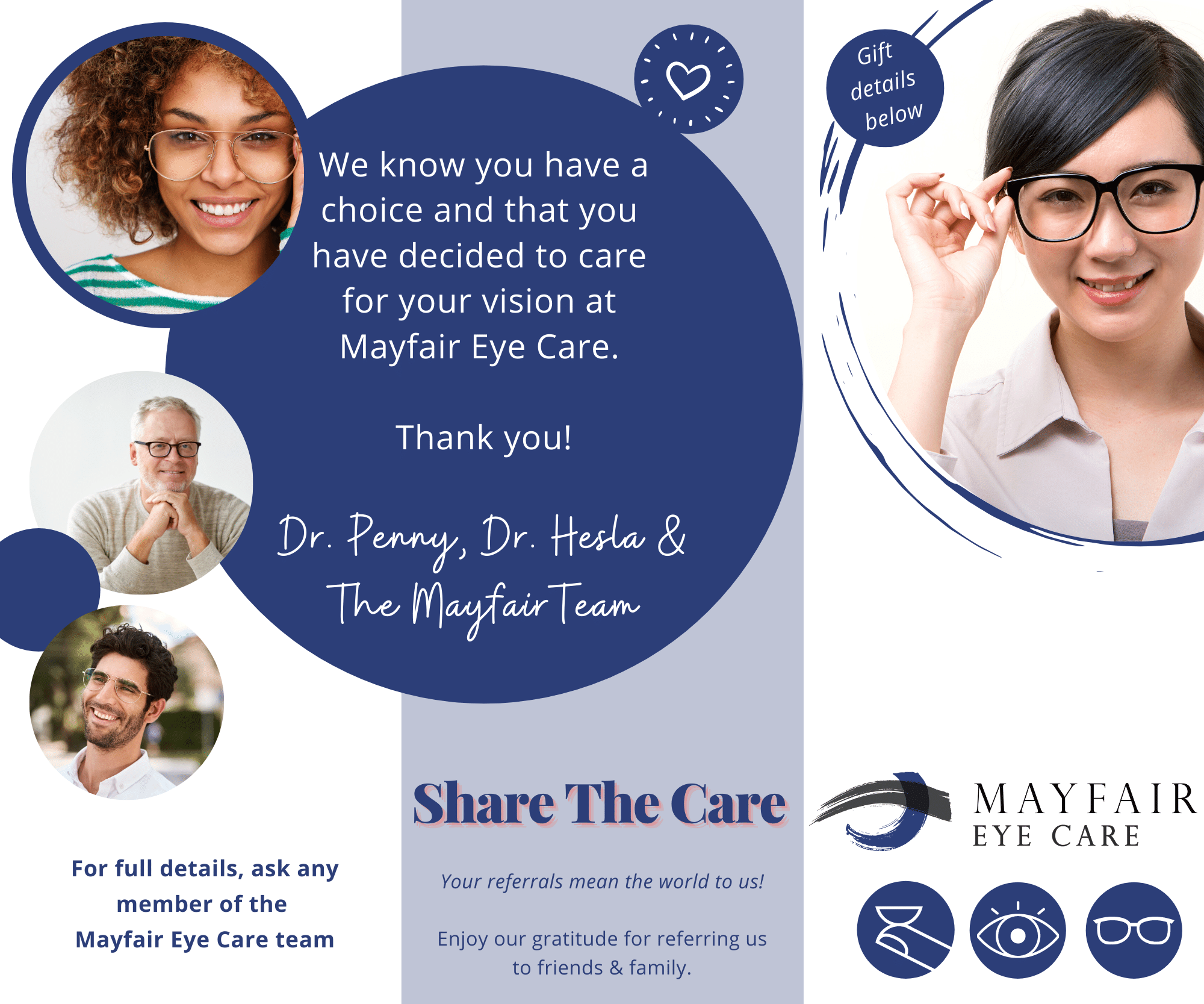 Mayfair eye care calgary optometrist vision therapy boutique frames dr penny hesla